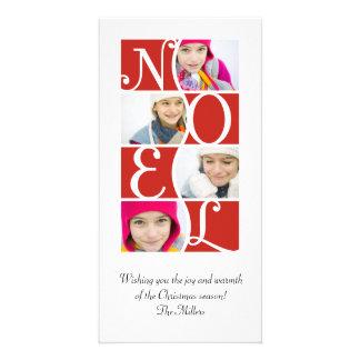 Puzzle de NOEL dans la carte de voeux rouge de Noë Cartes Avec Photo