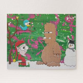Puzzle de Noël de yeti