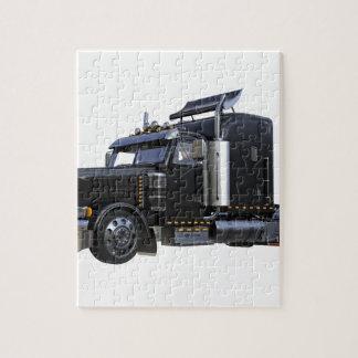 Puzzle De noir camion de remorque de tracteur semi