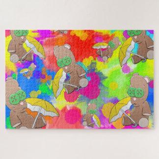 Puzzle de nounours de jour pluvieux grand