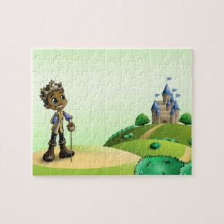 """Puzzle de photo de 8x10 de """"prince Jamal"""" avec la"""