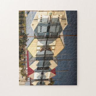 Puzzle de photo de boathouses du fleuve