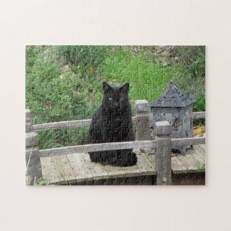 Puzzle de pont de chat noir