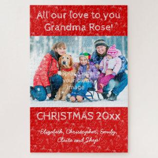 puzzle de portrait de famille de Noël du morceau