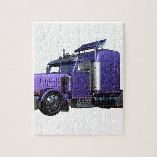 Puzzle De pourpre camion de remorque métallique de