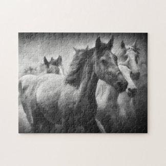 Puzzle de ruée de cheval