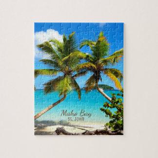 Puzzle de St John de plage de baie de Maho