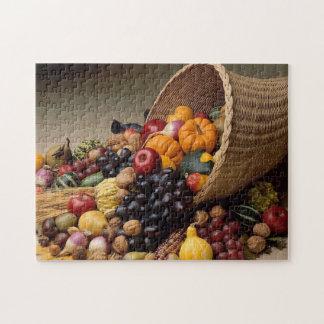 Puzzle de thanksgiving de corne d'abondance