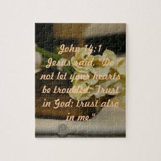 Puzzle de vers de bible de 14:1 de John