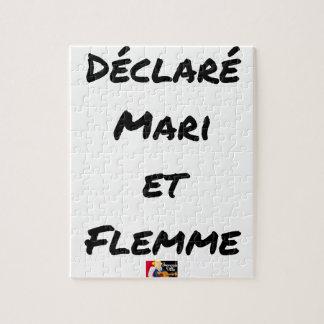 Puzzle DÉCLARÉ MARI ET FLEMME - Jeux de mots