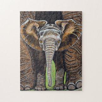 Puzzle d'éléphant de bébé