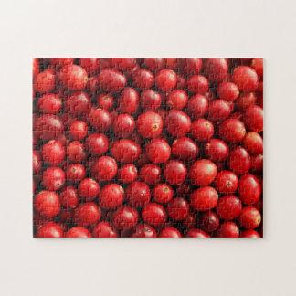 Puzzle denteux de canneberges rouges