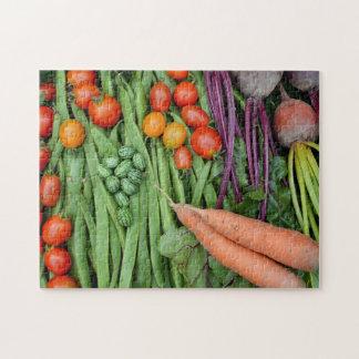 Puzzle denteux de récolte végétale