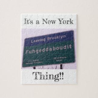 Puzzle Départ de Brooklyn New York Fuhgeddaboudit