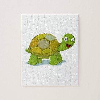 Puzzle Dessin de bande dessinée de tortue