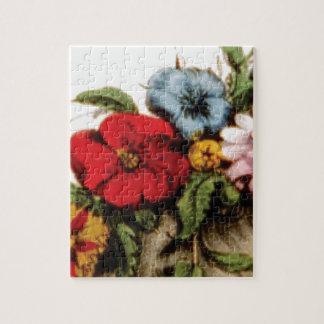Puzzle dessin de composition florale