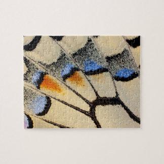 Puzzle Détail crème d'aile de papillon de couleur