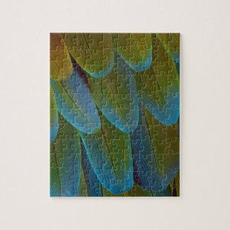 Puzzle Détail de motif de plume de perroquet d'ara