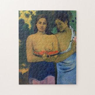 """Puzzle """"Deux femmes de Tahitian"""" - Paul Gauguin"""