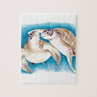 Puzzle Deux tortues de mer