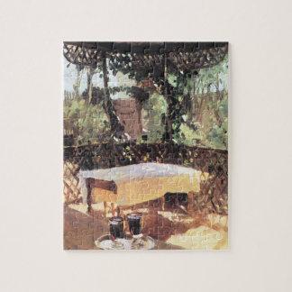 Puzzle Deux verres de vin par Sargent, impressionisme