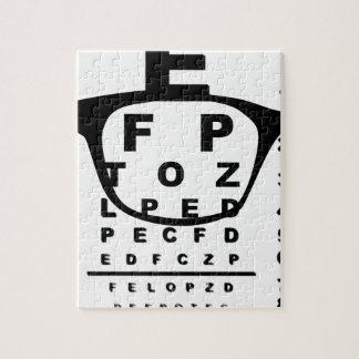 Puzzle Diagramme d'essai d'oeil de Blurr