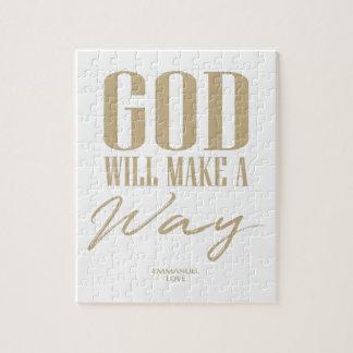 Puzzle Dieu fera une manière