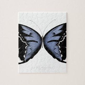 Puzzle Domestique bleue de marais de bleu du papillon 4