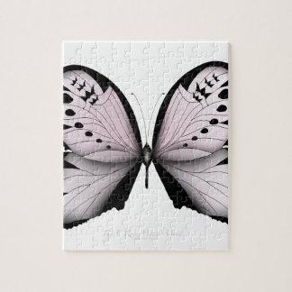 Puzzle Domestique rose de marais de papillon rose