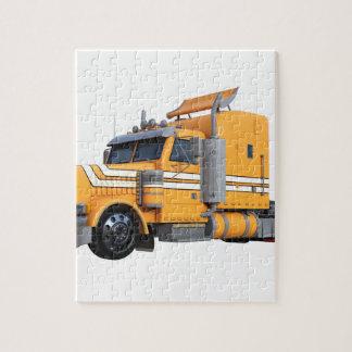 Puzzle D'orange remorque de tracteur semi
