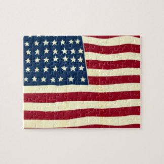 Puzzle Drapeau américain patriotique vintage, quatrième