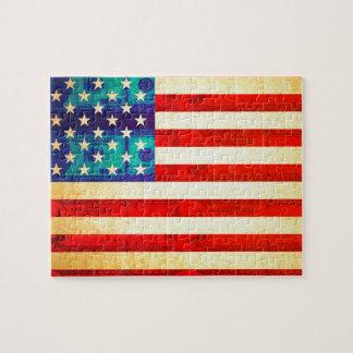 Puzzle Drapeau d'argent de l'Amérique