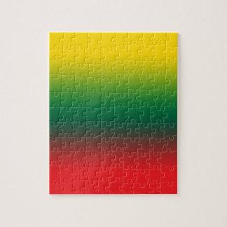 Puzzle Drapeau de gradient de couleurs de la Lithuanie