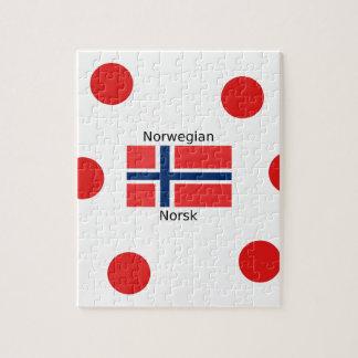 Puzzle Drapeau de la Norvège et conception norvégienne de