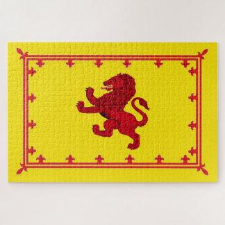 Puzzle Drapeau de lion de l'Ecosse/morceau effrénés