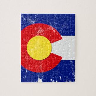 Puzzle Drapeau du Colorado affligé