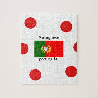Puzzle Drapeau du Portugal et conception portugaise de