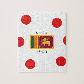 Puzzle Drapeau du Sri Lanka et conception de langue de