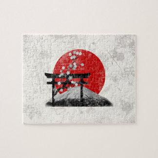 Puzzle Drapeau et symboles du Japon ID153
