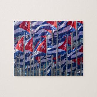 Puzzle Drapeaux cubains, La Havane, Cuba