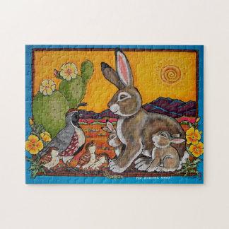Puzzle du sud-ouest de cailles de lapin de faune