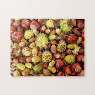 Puzzle Écrous et marrons d'automne
