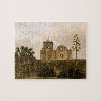 Puzzle Église-Cru/sépia du Texas