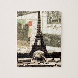 Puzzle Eiffel Tower vintage Paris