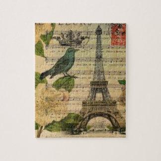 Puzzle Eiffel Tower vintage Paris