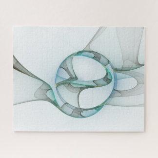 Puzzle Élégance bleue d'abrégé sur gris de turquoise