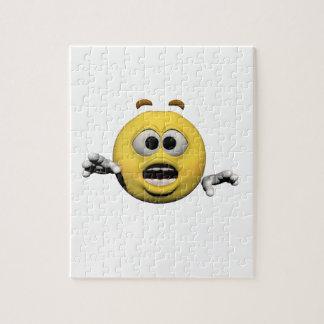 Puzzle Émoticône jaune ou smiley de crainte