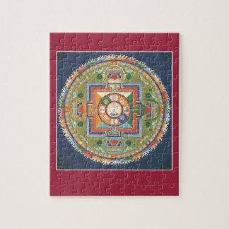 PUZZLE EN ÉTAIN - mandala Bouddha de compassion