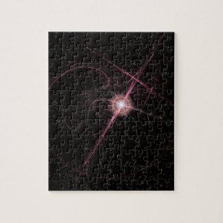 Puzzle En miroitant l'éclat rose d'étoile déconcertez 110