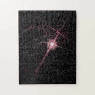 Puzzle En miroitant l'éclat rose d'étoile déconcertez 252